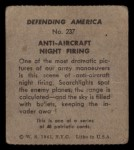 1941 W.S. Corp Defending America #237   Anti-Aircraft Night Firing Back Thumbnail
