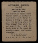 1941 W.S. Corp Defending America #240   Anti-Aircraft Traces Fire Back Thumbnail