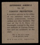 1941 W.S. Corp Defending America #207   Convoy Protection Back Thumbnail