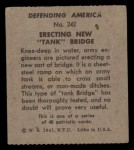 1941 W.S. Corp Defending America #242   Erecting New Tank Bridge Back Thumbnail