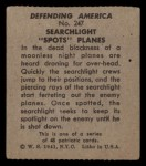 1941 W.S. Corp Defending America #247   Searchlight Spots Planes Back Thumbnail