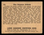1940 Gum Inc. Lone Ranger #13   The Counter Attack Back Thumbnail