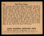 1940 Gum Inc. Lone Ranger #15   The Tree Trap Back Thumbnail