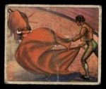 1949 Bowman Wild West #13 G  New Orleans Bullfight Front Thumbnail