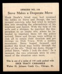 1931 Johnson Candy Dick Tracy R41 #138   Steve Makes Desperate Move Back Thumbnail