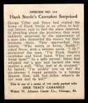 1931 Johnson Candy Dick Tracy #134   Hank Steele's Caretaker Surpri Back Thumbnail