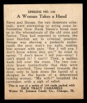 1931 Johnson Candy Dick Tracy #136   Woman Takes Hand Back Thumbnail
