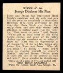 1931 Johnson Candy Dick Tracy R41 #140   Stooge Discloses His Plan Back Thumbnail