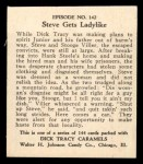 1931 Johnson Candy Dick Tracy R41 #142   Steve Gets Ladylike Back Thumbnail