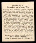 1931 Johnson Candy Dick Tracy R41 #127   Preparing for Long Trip Back Thumbnail