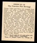 1931 Johnson Candy Dick Tracy R41 #128   The Convicts Plot Revenge Back Thumbnail