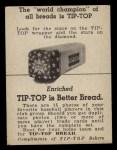 1947 Tip Top Bread  Mickey Livingston  Back Thumbnail