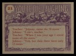 1959 Topps / Bubbles Inc You'll Die Laughing #21   Gulp! I don't know Back Thumbnail
