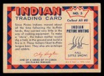 1959 Fleer Indian #5   Indian Woman and Stove Back Thumbnail