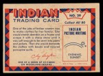 1959 Fleer Indian #29   Woman preparing deerskin Back Thumbnail