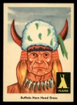 1959 Fleer Indian #19   Buffalo Horn Head Dress Front Thumbnail