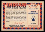 1959 Fleer Indian #22   Girl doing dishes Back Thumbnail