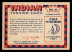 1959 Fleer Indian #30   -  Indian longhouse  Indian Indian longhouse Back Thumbnail