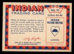 1959 Fleer Indian #70   Eskimo on seal hunt Back Thumbnail