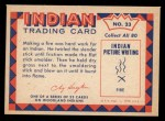 1959 Fleer Indian #23   -  Indian MakingFire  Indian Indian Making Fire Back Thumbnail