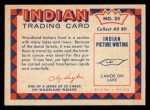 1959 Fleer Indian #25   Indian Making Birchbark Canoe Back Thumbnail