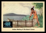 1959 Fleer Indian #25   Indian Making Birchbark Canoe Front Thumbnail