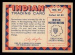 1959 Fleer Indian #28   Indian in winter dress Back Thumbnail