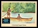 1959 Fleer Indian #33   Seminole Dugout Canoe Front Thumbnail