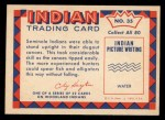 1959 Fleer Indian #35   Seminole hunting alligator Back Thumbnail