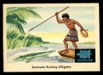 1959 Fleer Indian #35   Seminole hunting alligator Front Thumbnail