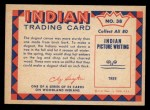1959 Fleer Indian #38   Making Dugout Canoe Back Thumbnail