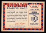 1959 Fleer Indian #53   Navaho Sandpainter Back Thumbnail