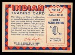 1959 Fleer Indian #55   -  Navaho Warrior  Indian Navaho Warrior Back Thumbnail