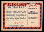 1959 Fleer Indian #60   Indian Farmer Digging Ditch Back Thumbnail