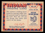 1959 Fleer Indian #68   Making acorn bread Back Thumbnail