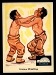 1959 Fleer Indian #73   Eskimo wrestling Front Thumbnail