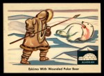 1959 Fleer Indian #75   Eskimo w/wounded polar bear Front Thumbnail