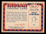 1959 Fleer Indian #77   Eskimo woman fishing Back Thumbnail