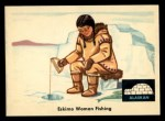 1959 Fleer Indian #77   Eskimo woman fishing Front Thumbnail