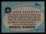 1957 Topps Space Cards #48   Lunar Explosions Back Thumbnail