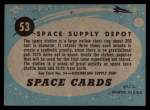 1957 Topps Space Cards #53   Space Supply Depot Back Thumbnail