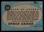 1957 Topps Space Cards #83   View of Saturn Back Thumbnail