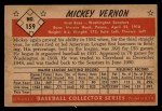 1953 Bowman #159  Mickey Vernon  Back Thumbnail