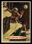 1957 Topps Space Cards #44   Moon Mountain Climbing Front Thumbnail