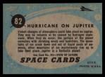 1957 Topps Space Cards #82   Hurricane on Jupiter  Back Thumbnail