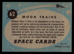 1957 Topps Space Cards #62   Moon Trains Back Thumbnail
