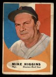 1961 Topps #221  Mike Higgins  Front Thumbnail