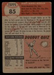 1953 Topps #85  Bob Morgan  Back Thumbnail