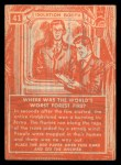 1957 Topps Isolation Booth #41   World's Worst Forest Fire Back Thumbnail
