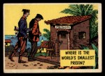 1957 Topps Isolation Booth #70   World's Smallest Prison Front Thumbnail